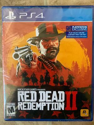 Red Dead Redemption II Playstation 4 PS4 Brand New & Factory Sealed