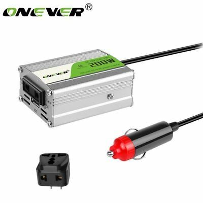 200W Auto Car Power Inverter USB Converter DC 12V to AC 220V Adapter + Plug AU