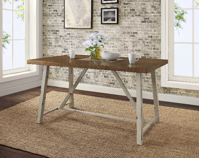 RUSTIC DINING TABLE Farmhouse Modern Country Kitchen Wood ...