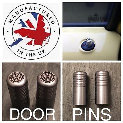 VW T5 T6 Titanium Door Lock Pull Pins Precision UK Machined And Laser Engraved