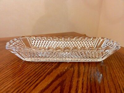 Antique French BACCARAT Late 19th Century Hand Cut Crystal Serving Dish 9 1/2""