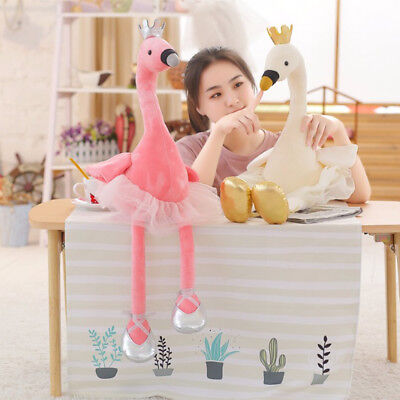 infant Kids  Ballet Swan Plush Toys Appease  Flamingo Doll  Animal Stuffed