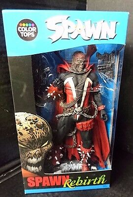 "Color Tops SPAWN REBIRTH VARIANT McFarlane.com New! 7"" Figure w/Stand & Weapons"