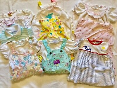 Toddler Girls Size 18 Month Lot of 13 Clothes Overalls Tops Shortalls Jumpers