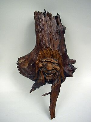 Handcarved Wood Spirit - Wall Mount
