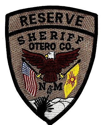OTERO COUNTY – RESERVE – NEW MEXICO NM Sheriff Police Patch STATE FLAG US FLAG ~