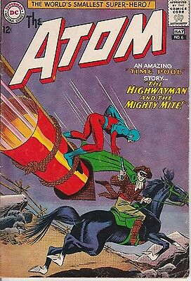 US DC comic Silver Age; THE ATOM #6 VG to FINE CENTS copy