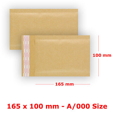 Size S1 - A/000 PADDED BUBBLE WRAP BAGS / ENVELOPES ALL COURIER - GOLD CHEAPEST