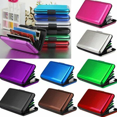 Women Men Waterproof ID Credit Card Wallet Holder Aluminum Metal Pocket Case VF