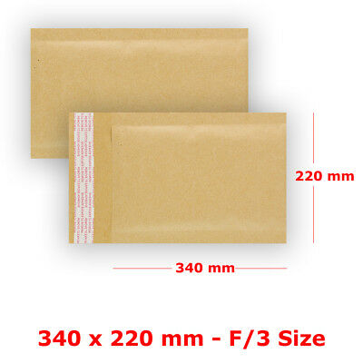 Size S6 - F/3 PADDED BUBBLE WRAP BAGS / ENVELOPES ALL COURIER - GOLD CHEAPEST