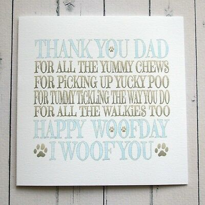 BIRTHDAY CARD To Dad FROM THE DOG HAPPY DAD Handmade Card