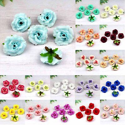 10-50-100pcs Silk Rose Bud Heads Artificial Fake Flower Wedding Party Decoration