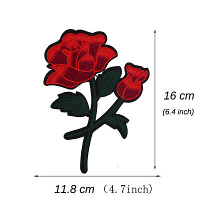 Roses Embroidered Applique Sew Iron on Cloth Patch Badge For Jacket Jeans Decor