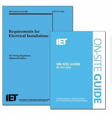 IET 18th Edition Wiring Regulations & OSG On Site Guide PDF's BS 7671:2018 Q&A's