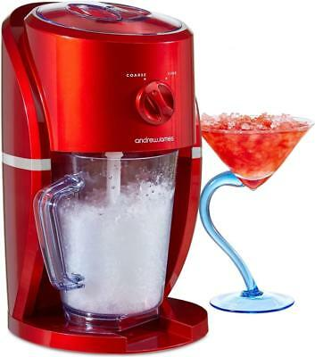 Andrew James Ice Crusher Machine & Slushie Maker - 2 Ice Sizes & Auto Stir - 25W
