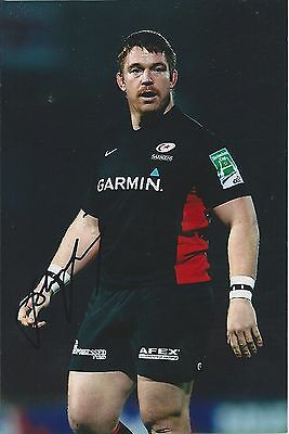 JOHN SMIT - Hand Signed 6x4 Photo - Saracens Sharks South Africa World Cup Rugby