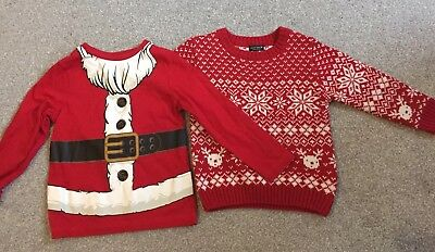 NEXT TU Baby Boys Red Christmas Jumper Santa Long Sleeve Top Size 18-24 Months