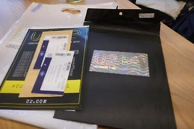 U2 VIP Pack Items U2+IE 2015 O2 London, Bag, tickets, 2 A4 Posters