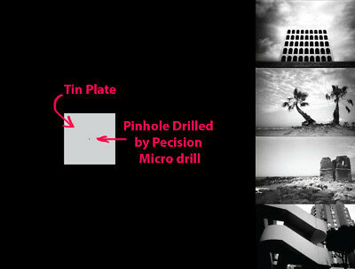 0.2mm 0.2 mm pinhole plate for DIY photography best for 35mm & APS-C & Micro 4/3