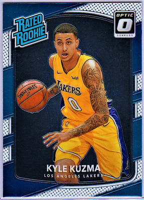 6ca320241bd 2017 18 Donruss Optic KYLE KUZMA Card  174 Rated HOT Rookie Rc L.A. LAKERS!