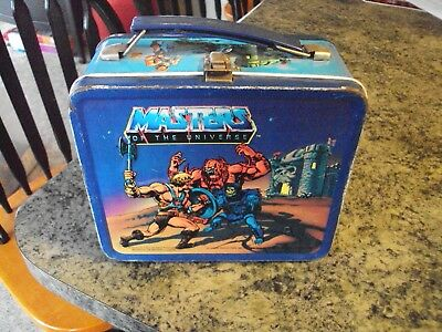 """1983 MASTERS OF THE UNIVERSE """"He-Man""""  Metal Lunch Box - No Thermos"""