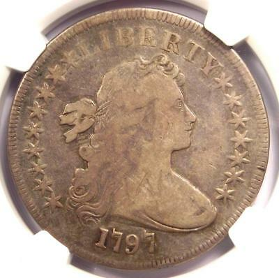 1797 Draped Bust Small Eagle Silver Dollar $1 - NGC Fine Details - Rare Coin!