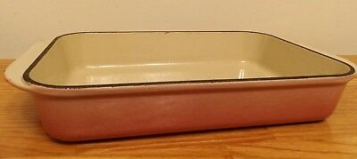 Vintage Ole Creuset Cast Iron Roaster/Baking Pan Pink Quartz Very Rare Color #30