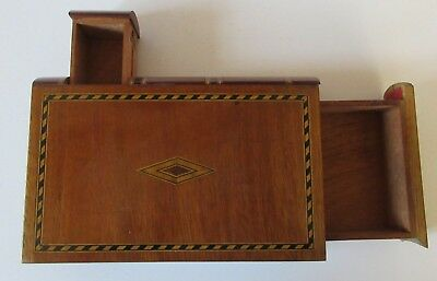 Vintage / antique wooden box disguised as a book / with 2 secret drawers