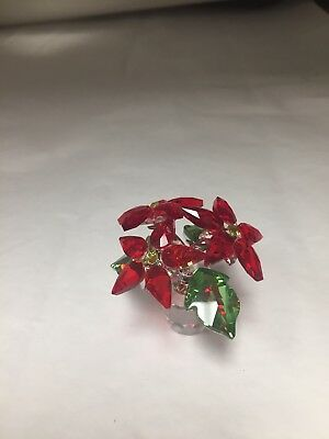 Swarovski Crystal Poinsettia A9400NR000137 Retired