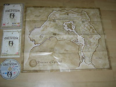 OBLIVION The Elder Scrolls IV Pc DVD Rom TES 4 with Manual & Map - Fast Post
