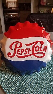 Pepsi Cola Button Sign By Stout