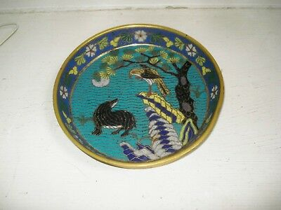Antique Chinese cloisonne dish ca 1700