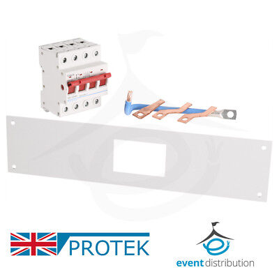 PROTEK 125A 4 Pole Isolator Incoming Kit for Protek Type B Three Phase MCB Board
