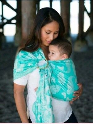a9cff0979a2 Tula naida ring sling woven baby carrier mermaid s m wrap cotton soft water