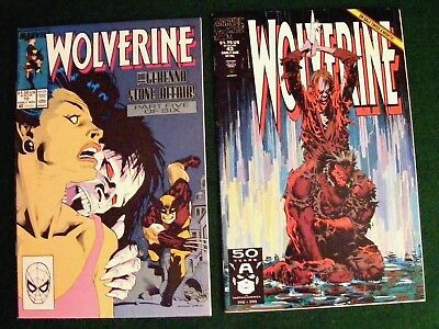 2 Wolverine #15 & #43, Marvel Comic Books, Original Owner! 1989!