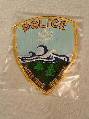 Watertown New York Police Department Patch Shield Shaped And New