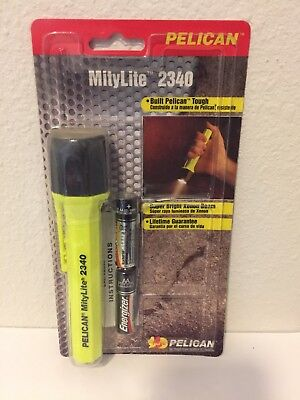 New Pelican 2340 Mitylite Yellow Flashlight