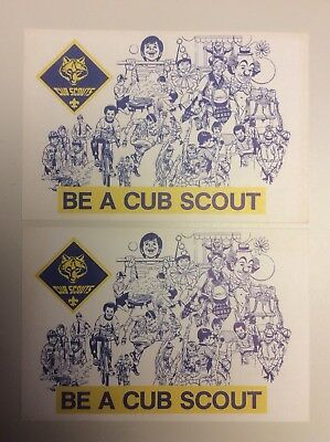BSA Be A Cub Scout Vintage Recruitment Post Card Lot, Pack Invitation, No 3860