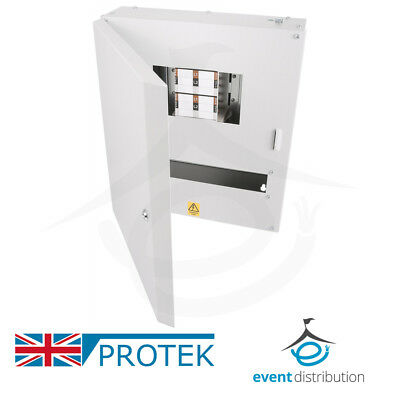 PROTEK 4 Way Distribution Board 3 Phase 125A Type B Industrial MCB Board