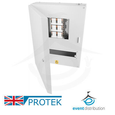 PROTEK 6 Way Distribution Board 3 Phase 125A Type B Industrial MCB Board