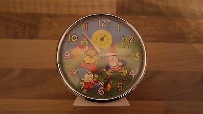 Vintage Smiths Noddy & Big Ears Clock, Mechanical Alarm Clock
