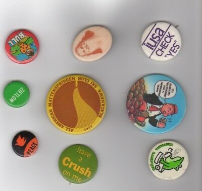 Vintage pinback Wimpy, Crush, National Lampoon