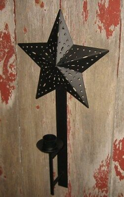 STAR Wrought Iron Black Candle Holder*Primitive/French Country/Farmhouse Decor