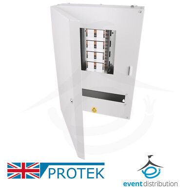PROTEK 8 Way Distribution Board 3 Phase 125A Type B Industrial MCB Board