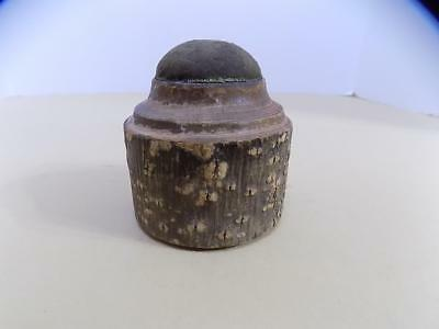 Vintage Handmade Wooden Pin Cushion Dated 1927
