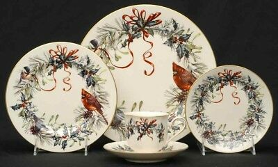 Lenox Winter Greetings Christmas China 5 Piece Place Settings New (8 available)