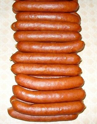 Collagen smoked Sausage Casing. 32mm x 50ft for 20 lb of sausage ( GOLD)