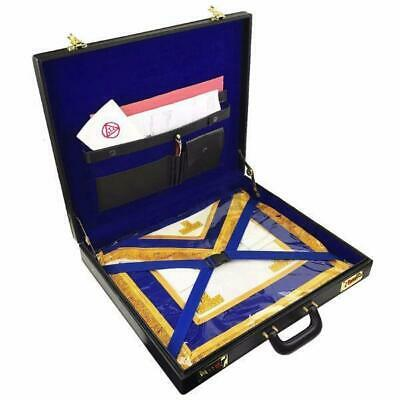 Masonic Regalia grand size mason apron Hard Case/Briefcase in Leather
