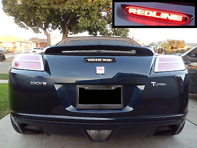 Saturn Sky Redline 3rd Third Brake Light Decal Overlay Sticker 2007 2008 2009
