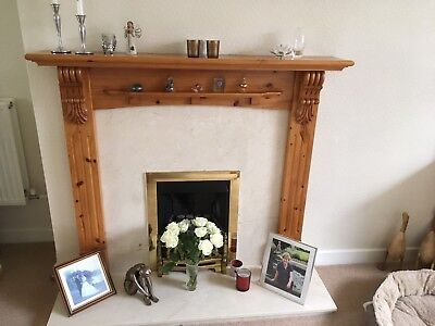 Antique Pine Fire Surround Only- Bought 1998. Cost Originally £400..